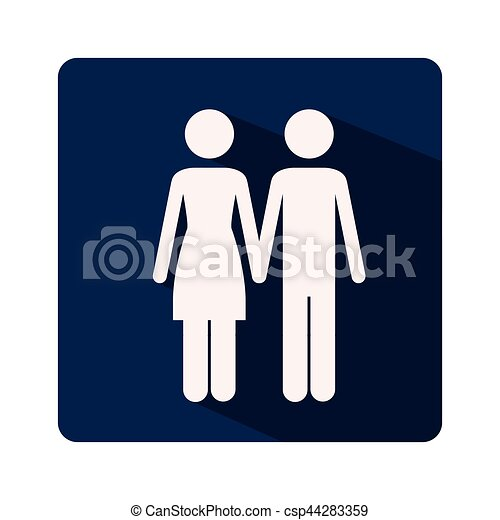 color silhouette frame with couple holding hands vector