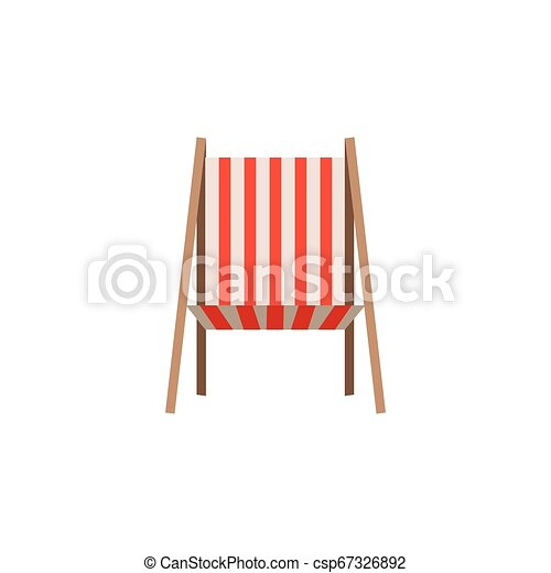 color silhouette of beach chair front view