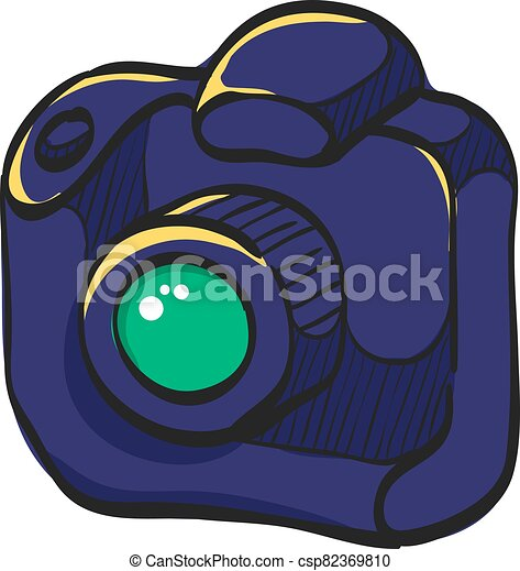 Color Sketch Icon Digital Camera Camera Icon In Color Drawing Digital Photography Professional Photographer Slr