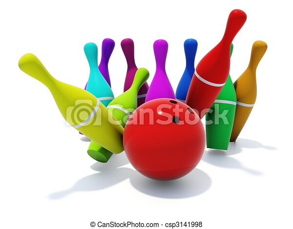 color skittles with ball isolated on white stock illustration rh canstockphoto com bowling skittles clipart bowling skittles clipart