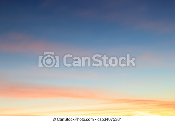 Color sky with clouds, background - csp34075381