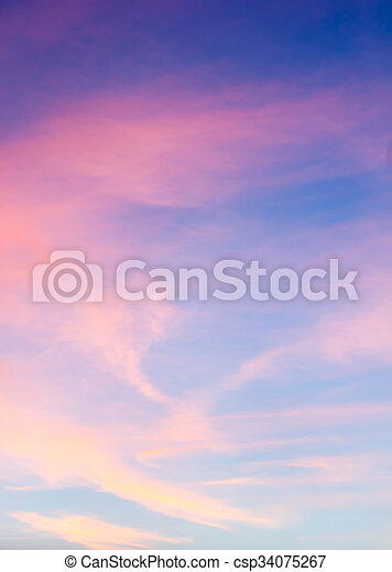 Color sky with clouds, background - csp34075267