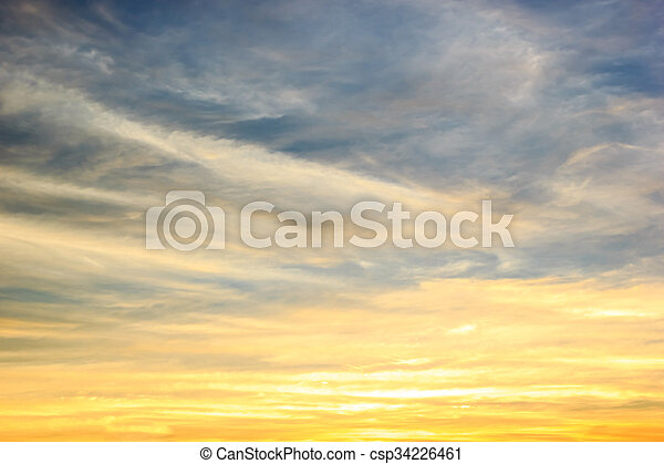 Color sky with clouds, background - csp34226461