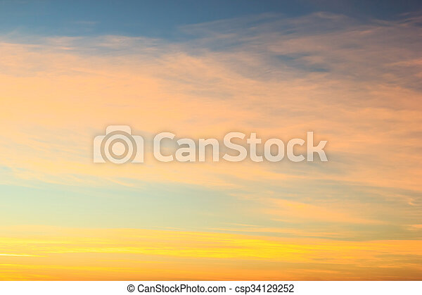 Color sky with clouds, background - csp34129252