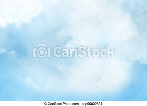 Color sky with clouds background - csp90002631