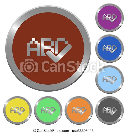 Color spell check buttons - csp38593448