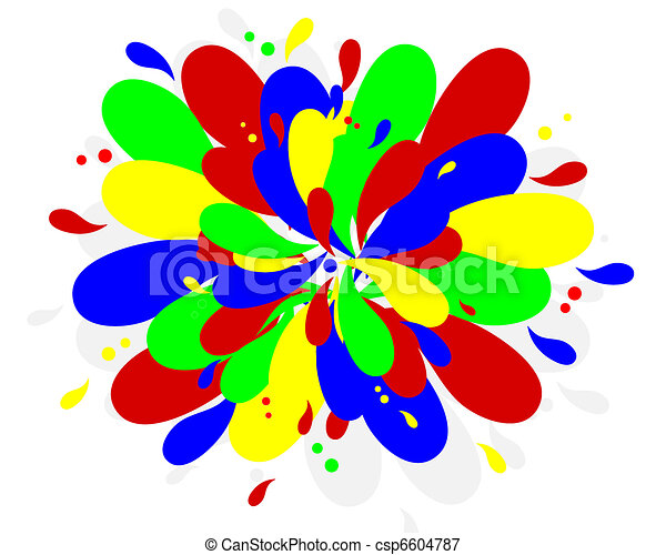 Color Splash Primary Colors Abstract Background Vectors