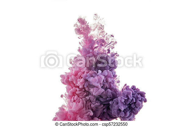 color splashes of ink - csp57232550