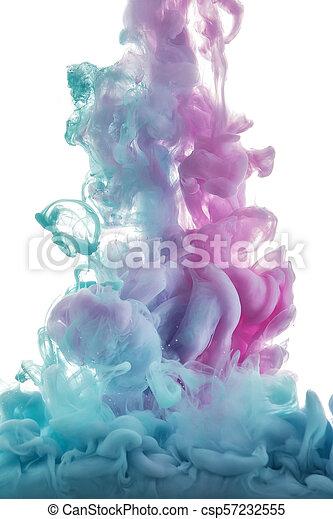color splashes of ink - csp57232555