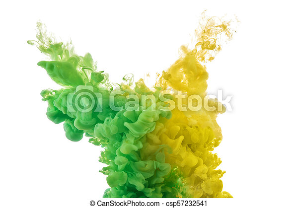 color splashes of ink - csp57232541