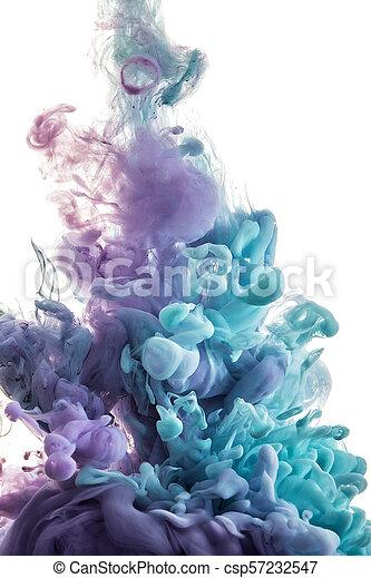color splashes of ink - csp57232547