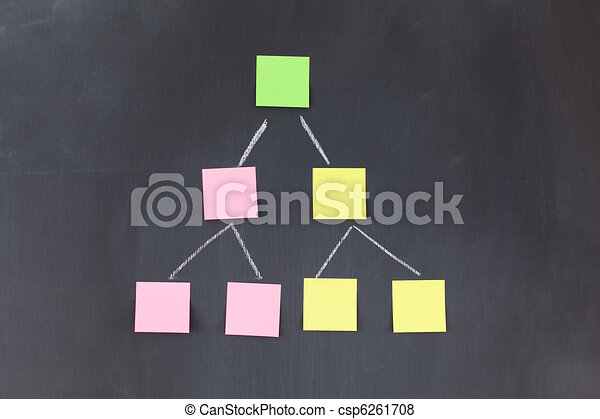 Color sticky notes forming a pyramid - csp6261708