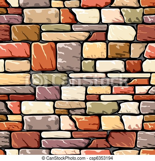 color stone wall vector seamless background with a stone eps rh canstockphoto com old stone wall clipart stone wall texture clipart