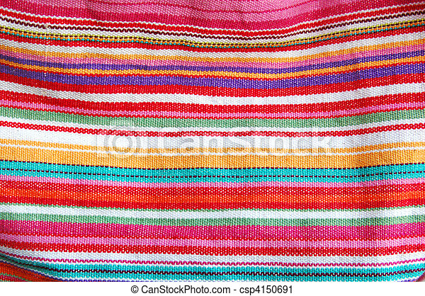 color stripped cloth texture - csp4150691