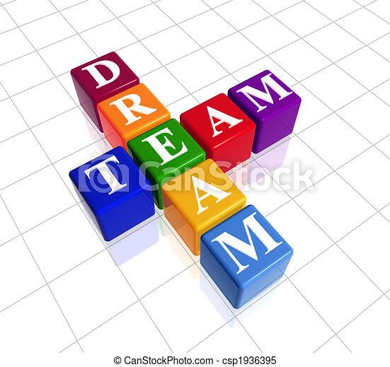 Equipo de sueños de color - csp1936395