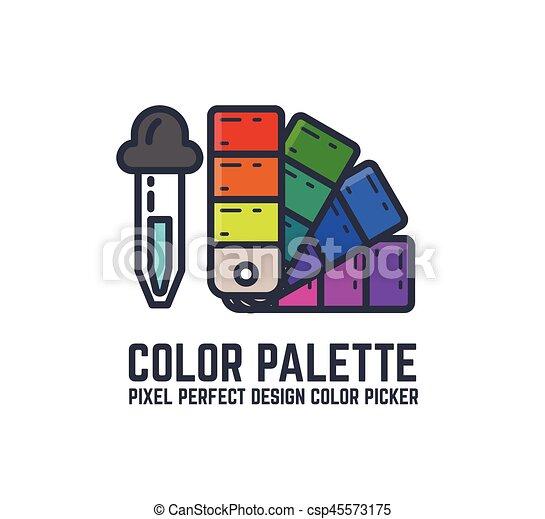 Color swatch palette - csp45573175