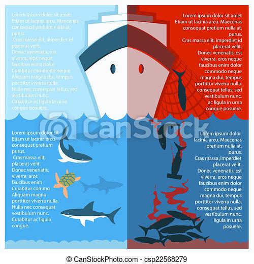 Deja de afinar tiburones. Afiche de color vector para texto - csp22568279