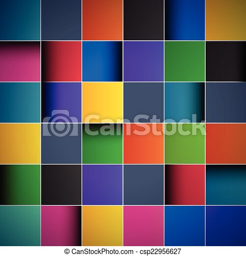 Color tiles, abstract background - csp22956627