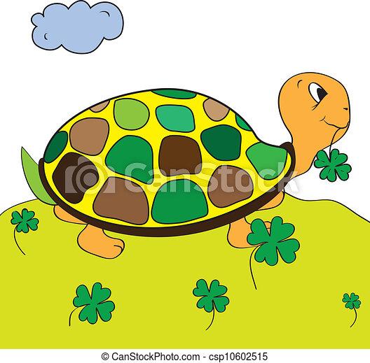 Color, tortuga, página, tortuga.