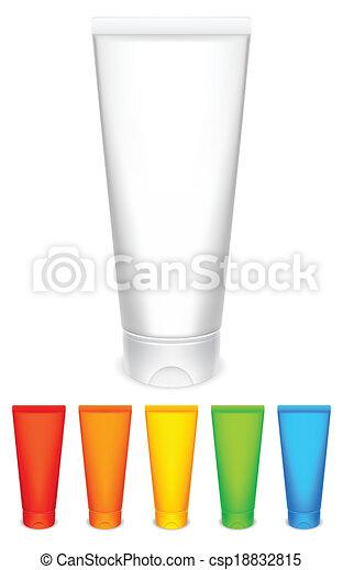 Tubos de color de crema. - csp18832815