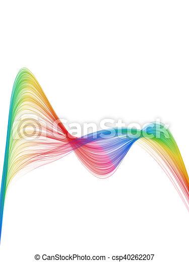 Una onda de color espectro - csp40262207