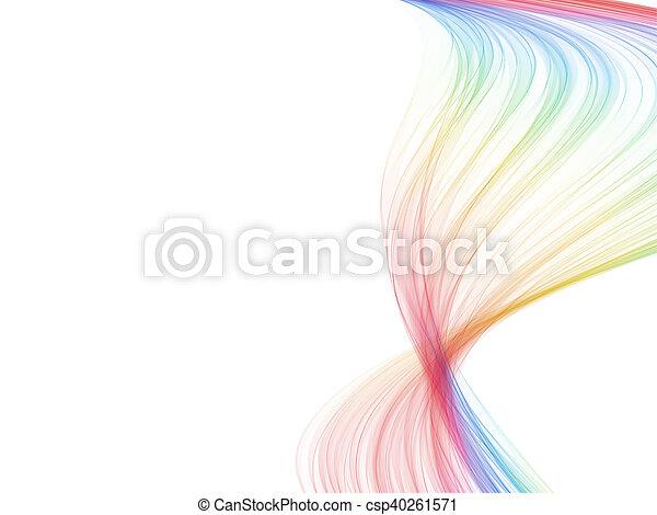 Una onda de color espectro - csp40261571