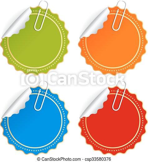 Color vector stickers - csp33580376