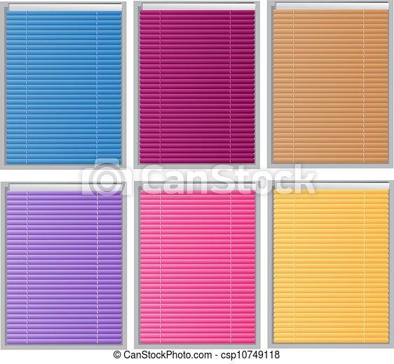 Color Venetian Blind Vector Clip Art Search Illustration