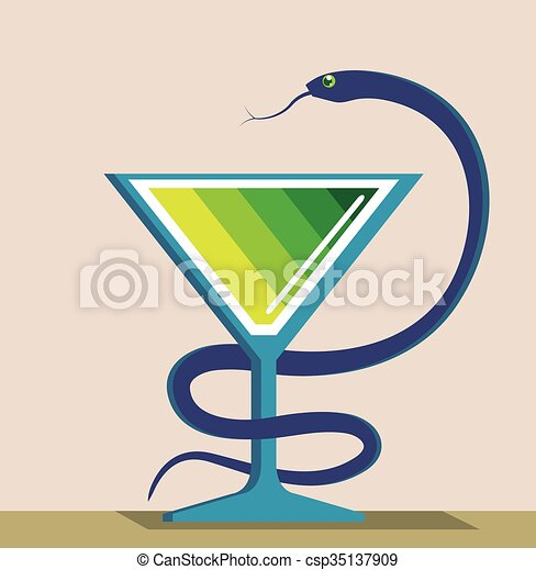 Color Vidrio Serpiente Veneno Color Veneno Vidrio Vector