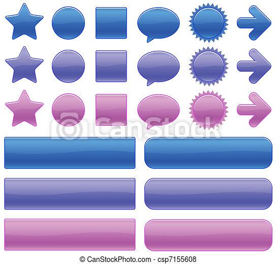 color web buttons - csp7155608