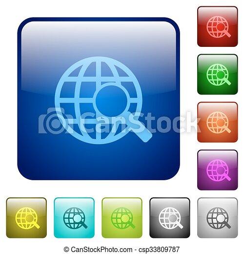 Color web search square buttons - csp33809787