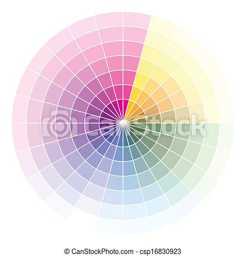 Color wheel  - csp16830923