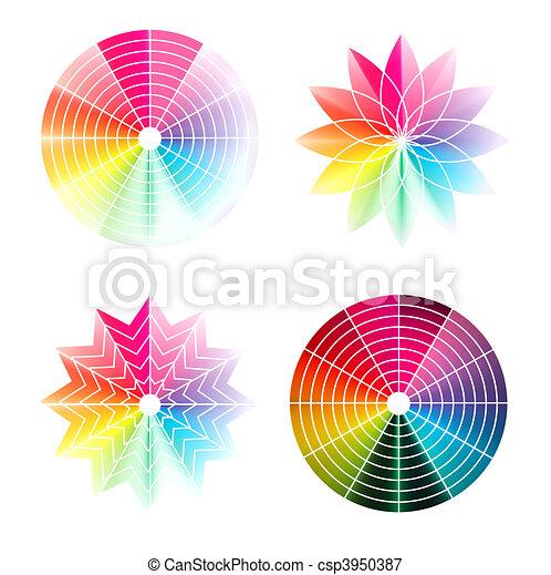 Color wheel  - csp3950387