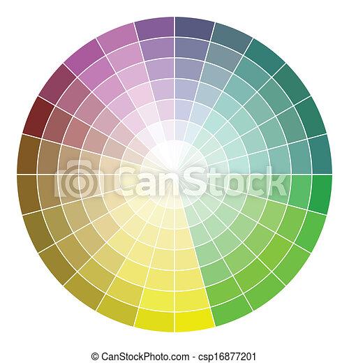 Color wheel - csp16877201