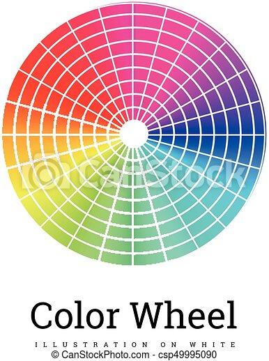 Color Wheel vector illustration - csp49995090