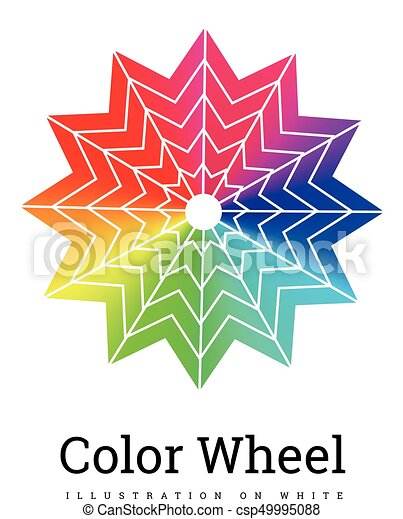 Color Wheel vector illustration - csp49995088