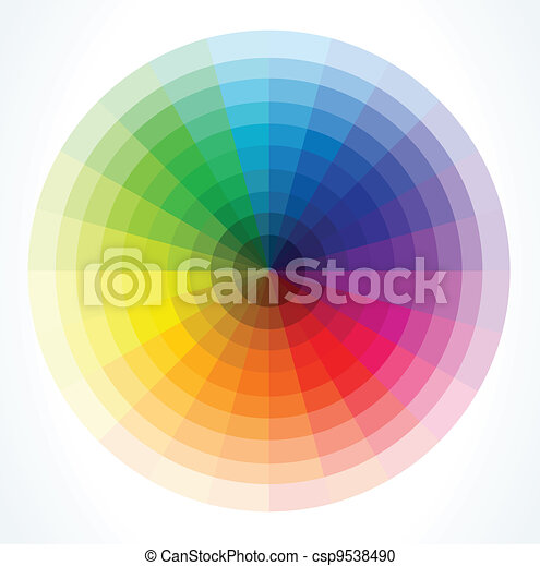 Color wheels. Vector illustration - csp9538490