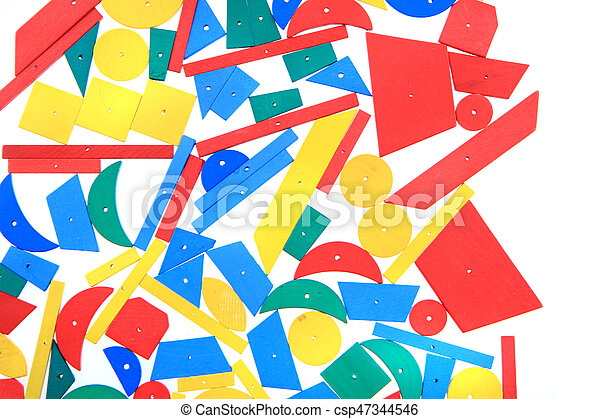 color wooden toy shapes - csp47344546