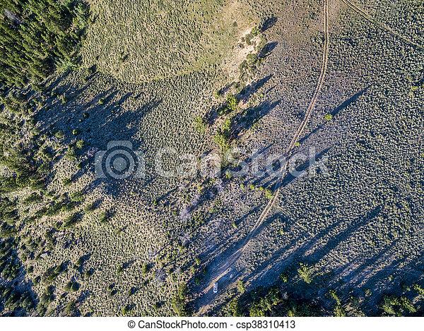Colorado back country road - csp38310413