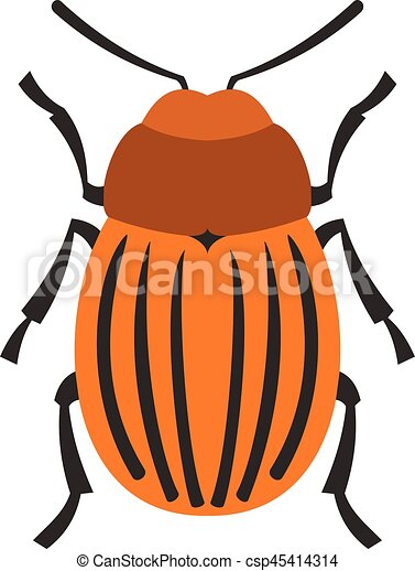 Colorado beetle icon, flat style - csp45414314