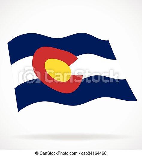 colorado co state flag flying waving vector - csp84164466