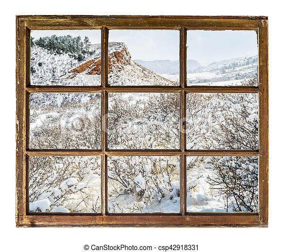 Colorado foothills abstract landscape - csp42918331