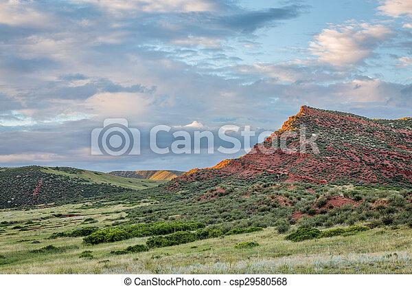 Colorado foothills at sunset - csp29580568