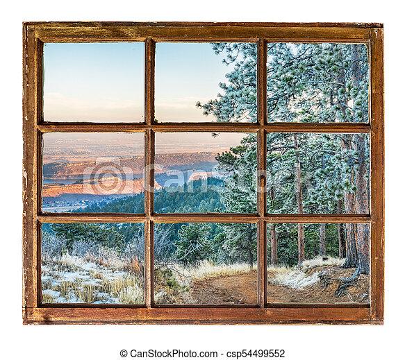 Colorado foothills in winter scenery - csp54499552