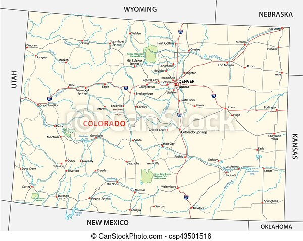 colorado national park map - csp43501516