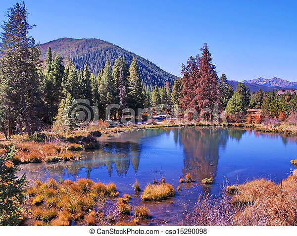 Colorado Pond in Fall - csp15290098
