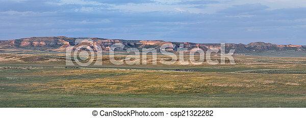 Colorado prairie panorama - csp21322282