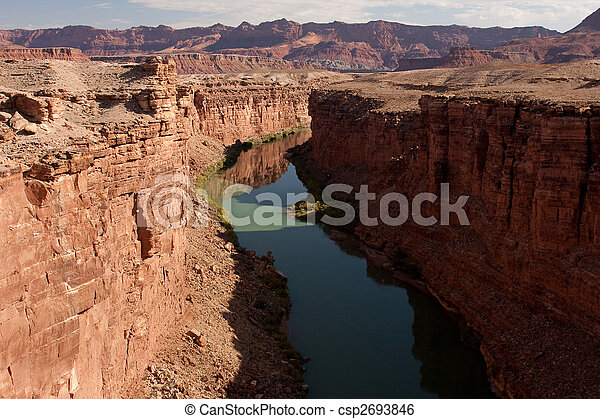 Colorado River at the Bottom of the Grand Canyon - csp2693846