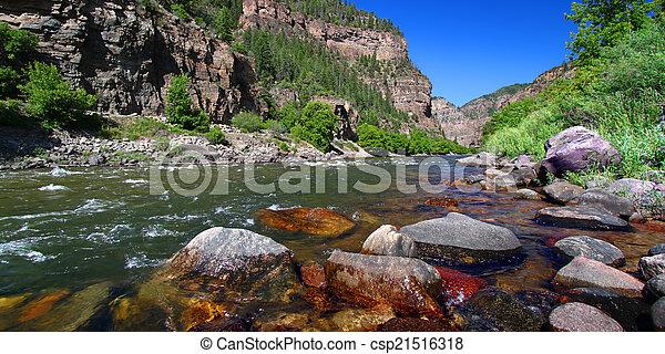 Colorado River in Glenwood Canyon - csp21516318