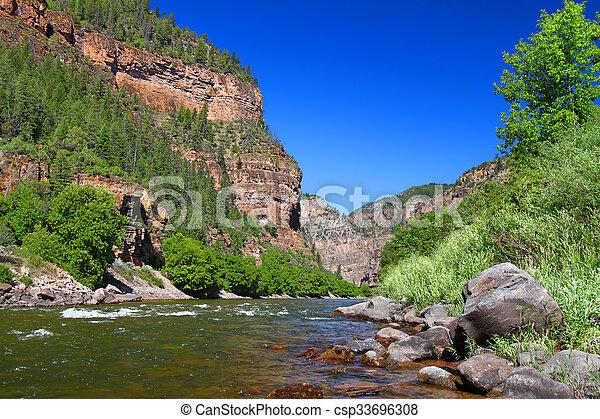 Colorado River in Glenwood Canyon - csp33696308